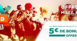 5€ offerts chaque week-end chez Betclic Turf