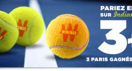Indian Wells : 3 + 1 paris live sur Winamax !