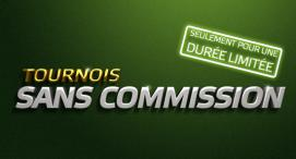 Tournois sans commission, Bonus de 100€ et freeroll de 10 000€ avec Party Poker