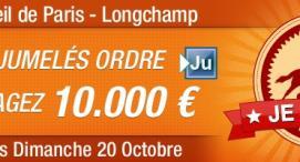 ZEturf : 150€ offerts pour décrocher 10.000€ sur une grande course !